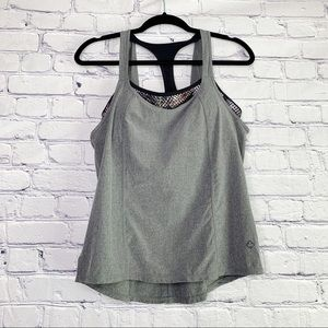 Prana | Gray Sway Tank Top with Sports Bra | S